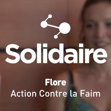 Flore, salariée chez Action contre la Faim