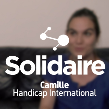 Camille, salariée chez Handicap international