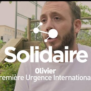 Olivier, salarié chez Première Urgence Internationale
